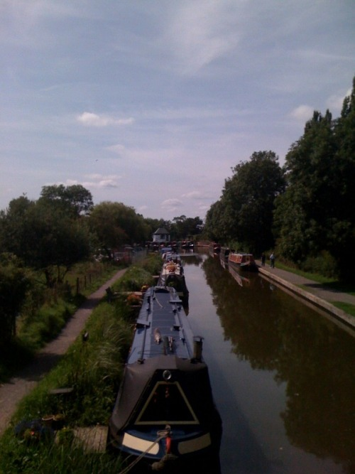 Cycling trip … the Stratford-upon-Avon Canal at Wootton Wawen
