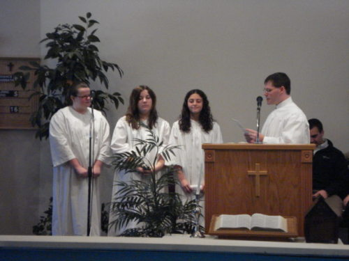 It was a high Sabbath!  Three of our girls were baptized, including Alexia!