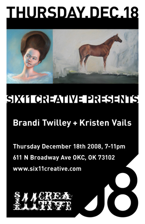 Thursday December 18th Brandi Twilley and Kristen Vails. We are proud to have a couple of cool ladies in the house this December. They are both well trained and highly skilled artists that are a must see.