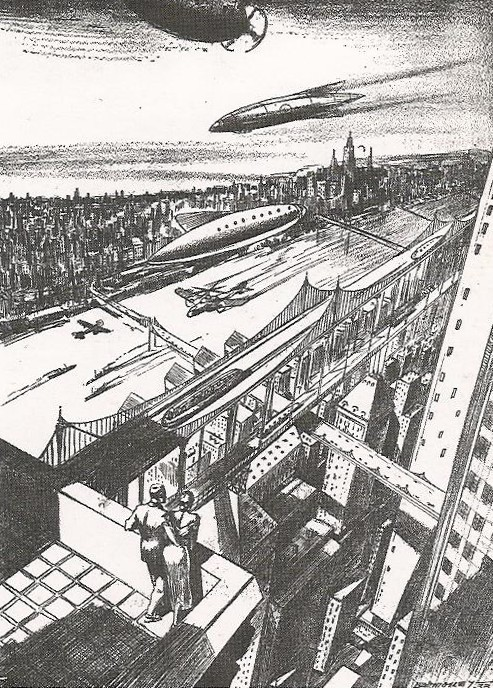 Tomorrow's Skyline from davidszondy.com  via vintagefuture