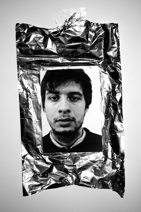 Rémi (March 4, 2009, 5:09 PM), Laser print on aluminium foil, 55 x 32,5 cm, 2009