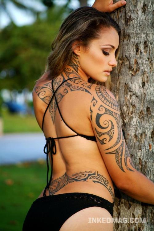 Full Body Tribal Tattoos for Girl