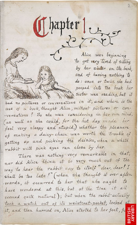 "Via libraryland via romancandleheart: ""Original manuscript of Carroll's Alice in Wonderland, here."""