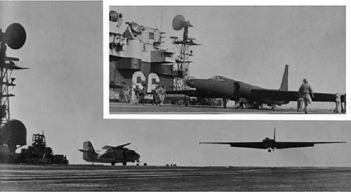 Lockheed U-2 carrier landing trials, USS America, 1969