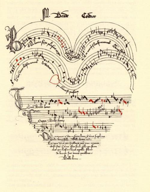 ut:Heart-shaped manuscript by Baude Cordier