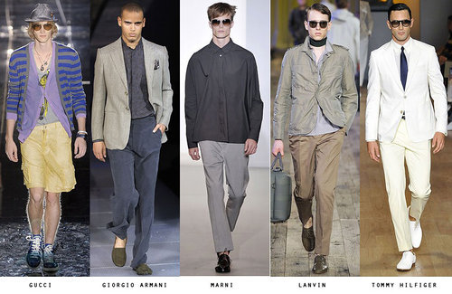 Summer stylin'(Like the silhouette and palette for Lanvin best, followed by Gucci.)