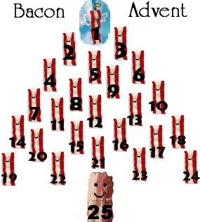 Bacon Advent Calendar Some great bacon shopping tips for the Holiday season. from foodvu