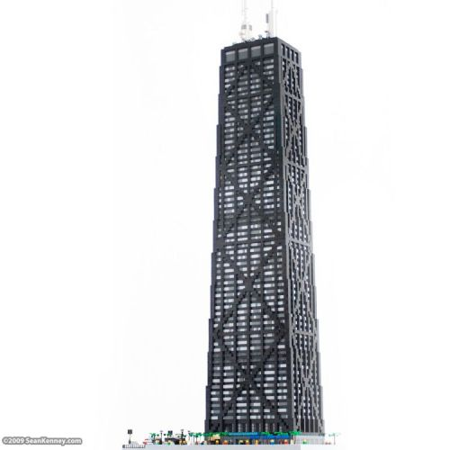fuckyeahlegos:  LEGO John Hancock Center, Chicago from MOCpages via brothers-brick