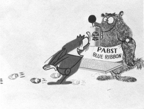 TV commercial for Pabst Blue Ribbon (ca. 1956, Animation Inc.) designer unknown