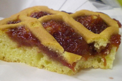 Paraguayan guava cake from I Love Py. Bakery Cafe (on Greenpoint Ave b/w 42nd and 43rd Sts.). Brilliantly moist with a hint of buttery sweetness—firm shortbread crisscross, detectably homespun guava paste bursting with seedy fruit flava, and spongy and succulent cake. We snagged a sexy corner slab at 10am, and that fucker was still warm. Heaven. —————————————————- I Love Py. Bakery Cafe 43-16 Greenpoint Avenue (b/w 42nd and 43rd Sts.) Sunnyside, NY 11104 718-786-5534