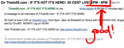 I need to revise my email subscriptions to ThisIs50.com.