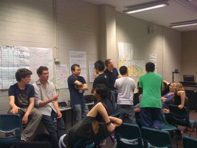 AIESEC Leaders in the process of selecting National Focus Areas for the 09-10 year.