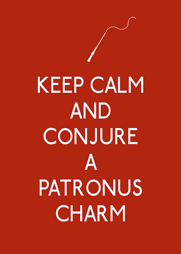 Keep Calm and Conjure a Patronus Charm (via 3LambsStudio)