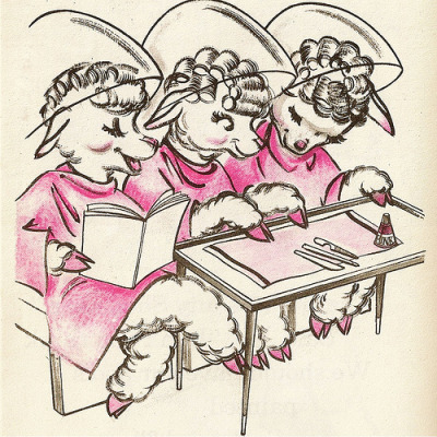 frankensteinsbride1313: Sheep getting their curls done! (via simply*mein)