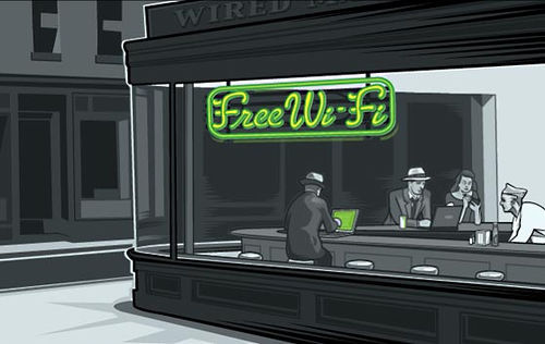 chryselephantine: dailymeh: Wifi Diner by Joshua Ellingson. (via krs)
