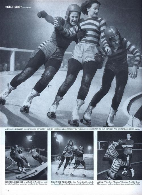 mudwerks: Modern Mechanix | ROLLER DERBY  (Dec, 1948)