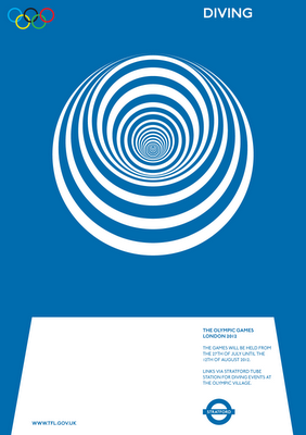 One of a series of proposal posters designed for the London 2012 Olympics by Alan Clarke. Clean and simple. More here.