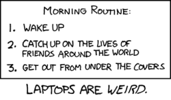 xkcd - A Webcomic - Morning Routine