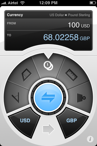 Definitely the most beautiful app for iPhone. The Convertbot by Tapbots. [iTunes link]