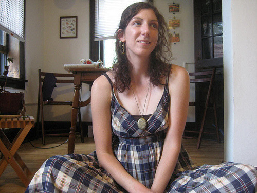 Plaid dress, J. Crew, acquired '07.