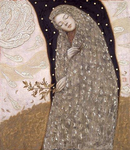 amor-fati:  FFFFOUND! | 榎俊幸+(Toshiyuki Enoki) i cant find much about Toshiyuki Enoki, except some work here.like a more modern Gustave Klimt, no?