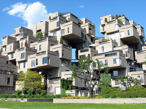 doing photo research on montreal and came across this awesome building. wowser! rideronthest0rm:  szymon: Habitat '67, Montreal.  (via szymon)