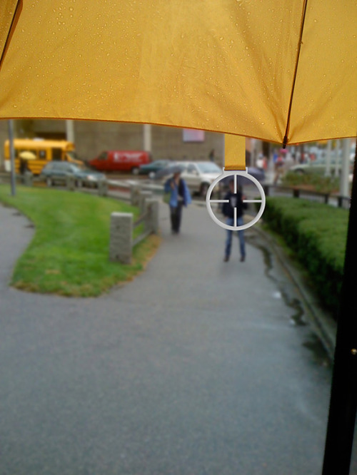 umbrella for urban combat  designed by Bryan Boyer