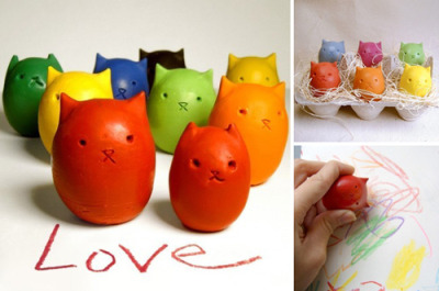 moderncat » Easter Etsy Find: Kitty Egg Crayons So cute!