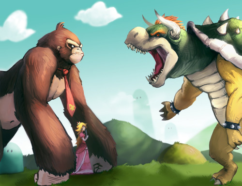 If the King Kong story took place in The Mushroom Kingdom.