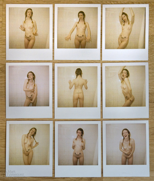 A few polaroids of Katie West by Marc Velasquez