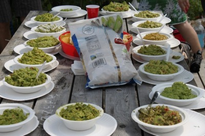 I went to the 4th annual Guac Off in Williamsburg on Saturday afternoon, where I had the distinct pleasure of trying 17 different guacamoles. A good day generally involves trying one guacamole, so ya know. The weather was perfect, and it was a blast.