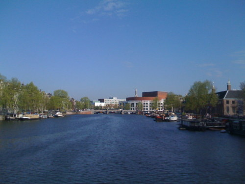 Blue sky over Amsterdam. And it feels like summer!