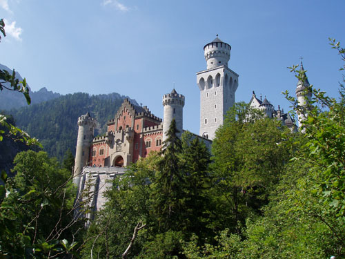 Neuschwanstein Castle - Seen from the road up to it — (Photo taken 2006-07-30)