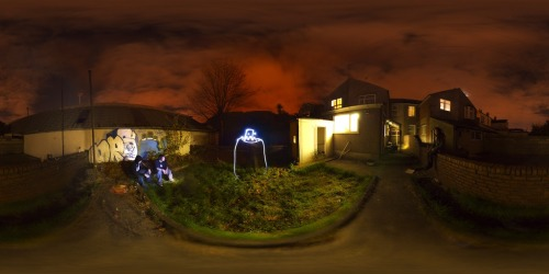 - collabo matt wright (360) & myself (light trail) + moke.