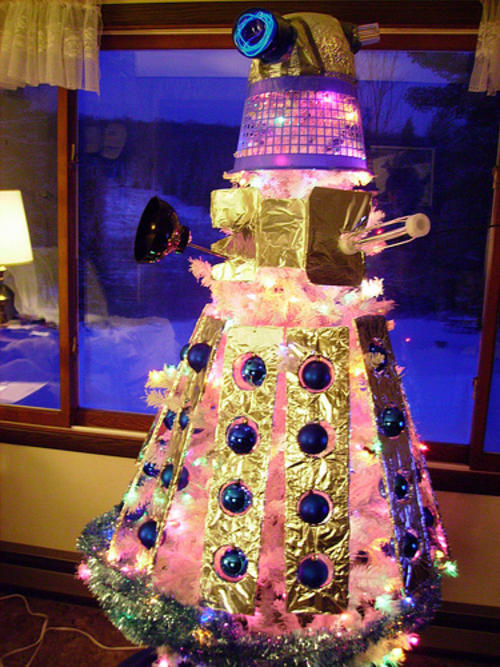 Dalek Xmas tree via