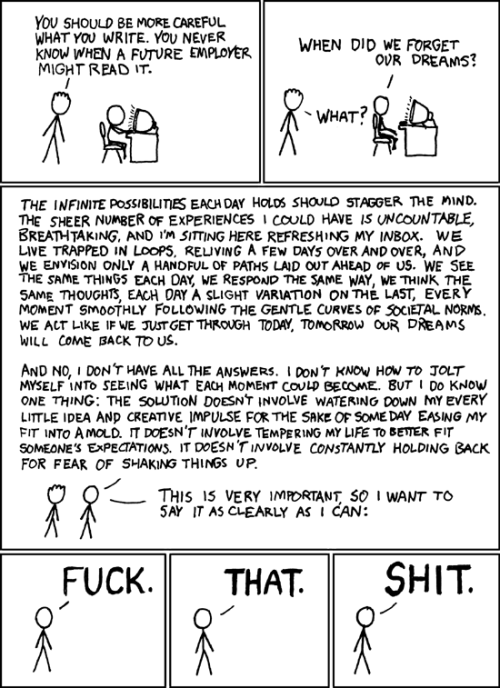 pterodactyls:  thakker:  xkcd - A Webcomic - Dreams  I love this so much I want to burst.