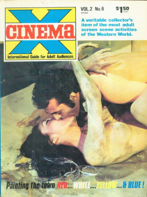via www.vintagesleaze.com Cinema X Cinema X was a british film magazine best known for its coverage of sexploitation films. Early issues of the magazine were undated, but it is believed the first issue was published in 1969. The first film to grace the cover of Cinema X was Loving Feeling directed by Norman J. Warren.  Other films covered in the first issue were I Am Curious (Yellow), Curse of the Crimson Altar and Therese and Isabelle, people interviewed in the premiere issue included Norman J Warren, John Trevelyan and Anthony Newley. Related:  Continental Film Review British exploitation Sexploitation film slicks 1963–1973 Erotic film magazine British sex film Bachoo Sen