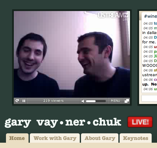 Our friend Gary Vaynerchuk of Wine Library TV just made Tumblr his new home!  Check out the sick custom theme by Jacob. Gary's streaming live on his blog, so go check him out if you don't know what he's about.