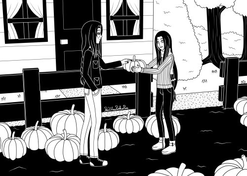 ItaNeji Fantober 2020, Day 19 - Pumpkin Patch  Daaammn I struggled a lot with this one! 😩Also it's kinda ironic that Neji is so happy about a pumpkin because they're his least favourite food, but I guess it's for carving only so it's fine! 😊Itachi and Neji © Masashi Kishimoto #itachi uchiha#neji hyuga#Neji Hyuuga#itachi#neji#itachineji#ItaNeji#Naruto Shippuden#naruto#shonen ai#pumpkin#pumpkin patch#blackandwhite#boys love#fantober#fantober2020#inktober#inktober2020