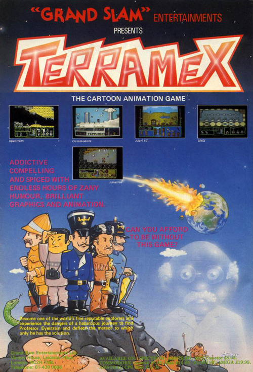 obscurevideogames:  ad for Terramex (Krisalis/Grand Slam - Amiga - 1987)  can you afford to be without this game?