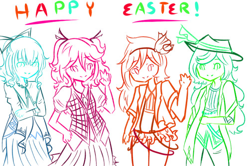 canary6:  Happy Easter Everyone! Just some original designs to fit in the spring theme. uvu~  Real Easter pic for y'all-