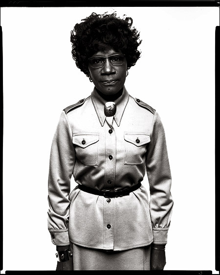…a sure thing… Shirley Chisholm, as photographed Richard Avedon. Look