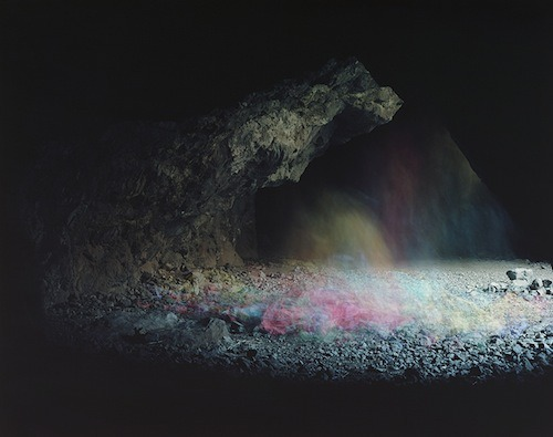 Brice Bischoff's Bronson Caves series of light paintings, recently on display at Art Basel Miami. A repository for ideas, daydreams and possibilities lying in wait on this day of solstice — the end of an era and the beginning of the new and nascent.