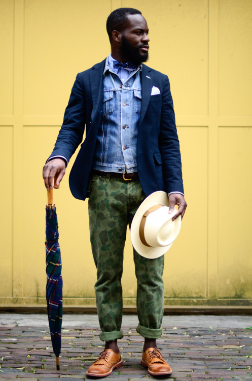 blackfashion:  Quincy Brondenstein, Wearing dapper Gant apparel. Styling by Lenny Graauw from the Cavemen team