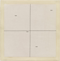 artspotting:  Carl Andre, now now, 1967, typewriting and ink on paper,