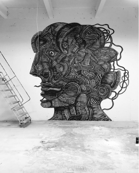 Monday murals | Zio Ziegler at Juxtapoz Clubhouse