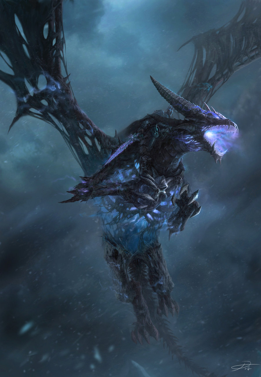 onyxshinigami:  Frost Wyrm by *yinyuming