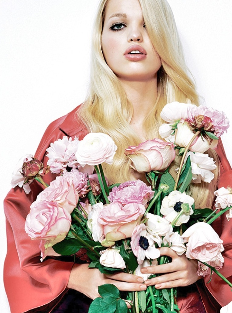 "pradafied:  ""Oh Babe"", Daphne Groeneveld by Eric Guillemain for the March 31, 2013 issue of The Sunday Times Style"