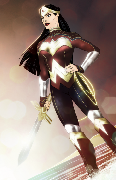 eschergirls:  k3m15a submitted:    another wonder woman redesign that is AWESOME!    Not an eschergirl, just an awesome wonder woman redesign  Very nifty. By Colin Alexander.