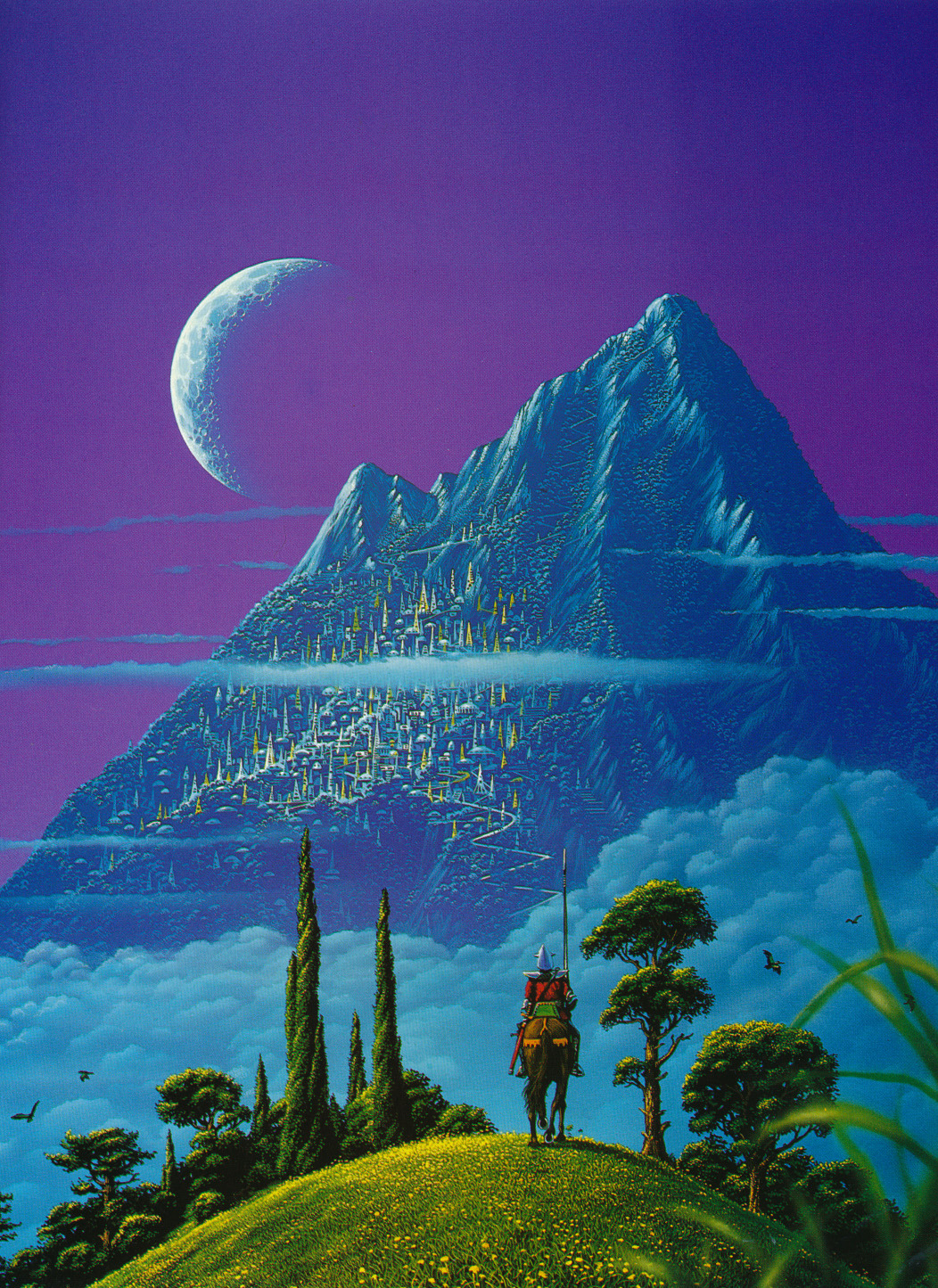 Tim White 1985 art for Nine Princes In Amber by Roger Zelazny